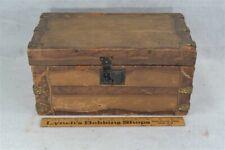 "doll trunk steamer  interior tray paper 13"" flat top Victorian antique original"