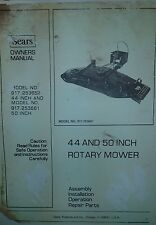 Sears FF/20 Lawn Garden Tractor Implements (6 BOOKS) Operation & Parts Manual 18