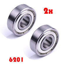 2Pc 6201Z Double Shielded Deep Groove Ball Bearing 32mmx12mmx10mm