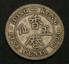 HONG KONG (British Colony) 5 Cents 1903 - Silver - Edward VII. - 2894