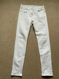 """""""Next"""" Figure Enhancer Skinny High Waisted White Jeans, Size 12 Long - VGC"""