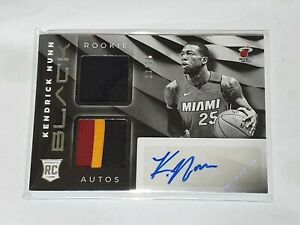 2019/20 Panini Black NBA Basketball cards Rookie Dual Patch autograph 23/25