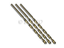 Professional 3 Piece 6mm HSS 4241 Long Straight Shank Twist Drill Bits
