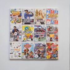 12 Wii Spiele: Big Family Games, de Blob, Fifa, Tiger Wood,Wii Play Nintendo Wii