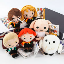 6Pcs Harry Potter Plush Toy Harry Hermione Ron Malfoy Dobby Owl Beans Gift New