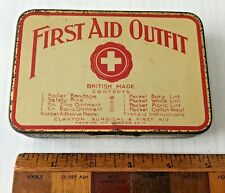 ANTIQUE UK CLAYTON SURGICAL FIRST AID KIT OUTFIT + REXONA TRIANGLE OINTMENT TIN!