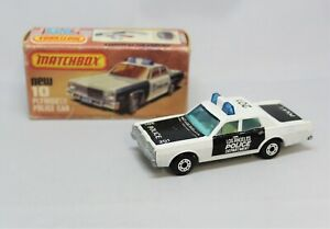 """Matchbox Lesney Superfast No10/55 MERCURY POLICE CAR in """" 201 LAPD LIVERY """" MIB"""