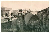 Antique WW1 military printed postcard Fort Camp de Romaine soldiers