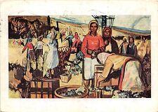 B51450 Gunther Brundel Die Weinlese Painting postcard