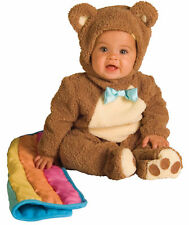 Oatmeal Bear With Rainbow Blankee Costume Chenille & Flannel Jumpsuit Rubies