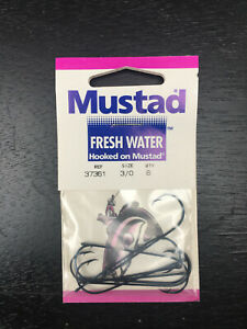 80 Mustad Fresh Water Fishing Hooks Display Packs Ref 37361 Size 3/0