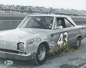NASCAR Richard Petty Authentic Signed 8x10 Black & White Photo BAS #Z99404