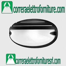 Plafoniera vetro parete esterno design PRISMA CHIP OVALE25 GRILL nero E27 005707
