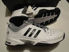 New In Box Adidas Barricade Classic Wide 4E Men's Tennis Shoes BY2920 White
