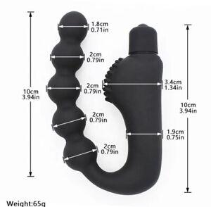 Vibrating Prostate Massager Anal Beads Dildo Clitoris Stimulator Adult Sex Toy