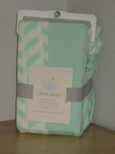 Cloud Island 2 Pack Jersey Crib Fitted Sheets Solid Mint Green Geo Shape Other