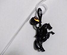 Disney Disneyland Headless Horseman Light Up Glow Clip & Straw Halloween