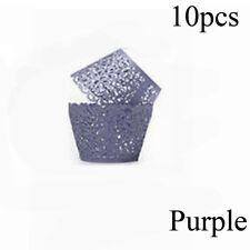 50x/bag Vine Lace Laser Cupcake Wrapper Paper Liner Hollow Baking Cake Cup Hot