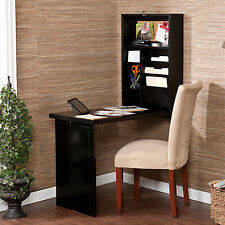 Murphy Black Fold-out Convertible Desk Furniture Storage Organizer Home Compact
