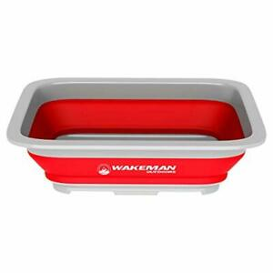 Wakeman Outdoors Collapsible Multiuse Wash Bin Portable Wash Basin Dish Tube