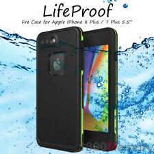 "GENUINE LifeProof Fre Case for Apple iPhone 8 Plus 7+ 5.5"" Water Proof Black"