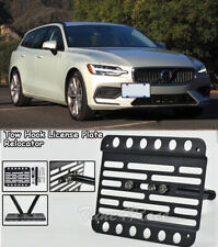 For 19-Up Volvo V60 Front Bumper Tow Hook License Plate Bracket Relocator Mount