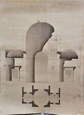 LAVIS-ENCRE-PLAN-PROJET-ARCHITECTURE-PALAIS-DEMEURE-R. VITTE-ATELIER-10-