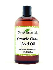 Organic Castor Seed Oil | 16oz | Imported From India | 100% Pure | Cold Pressed