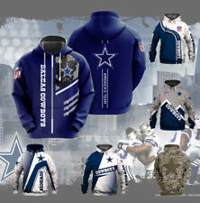 Dallas Cowboys Hoodies Hooded Sweatshirt Pullover 3D Print Coat Jacket Fans Gift