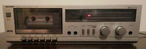 Vintage Sharp Stereo Cassette Deck RT-100 Metal Dolby System AC 120V 50/60Hz 10W