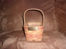 Longaberger 1986 Christmas Candy Cane Basket & Protector - Red