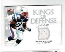 2006 Ultra Kings of Defense Jerseys Browns Football Card #KDWM Willie McGinest