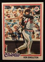 KEN SINGLETON 1978 TOPPS Autograph Signed AUTO Baseball Card 65 ORIOLES
