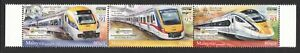 MALAYSIA 2018 RAILWAY ELECTRIC TRAIN O/P PENANG INT'L BANKNOTE & STAMP FAIR MINT