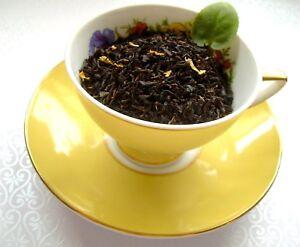 Tea Strawberry Tangerine Loose Leaf Aged Asian Black Fruity Tea Blend Natural CB