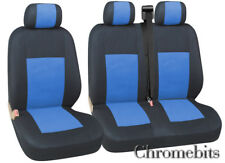 FORD TRANSIT CUSTOM SEAT COVERS 2+1 BLUE BLACK FABRIC  FOR 2+1 VAN