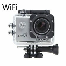 DBPOWER Waterproof Action Camera 12MP 1080P HD, Accessories Kit (Wifi Silver)