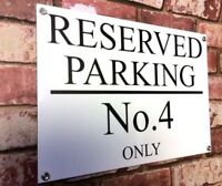 250x170 PERSONALISED CUSTOM BRUSHED ALUMINIUM PRIVATE RESERVED NO PARKING  SIGN
