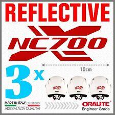 3x NC700X red HONDA ADESIVI PEGATINA STICKERS AUTOCOLLANT MOTO helmet casco