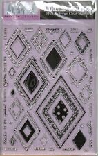 Clear stamps tampons Hampton Art HARLEQUIN: CADRES LOSANGES scrapbooking cartes