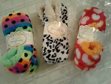 new ladies colorful  soft slipper socks;;lot of 2 pairs,.. size 6-7-8