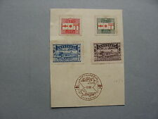 JAPAN, stamps MH fixed to sheet, 1st-day canc. on sheet 1921, 50 years post
