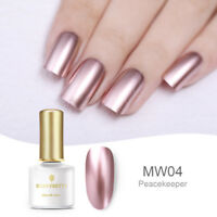 BORN PRETTY 6ml Rose Gold Metallic Mirror Soak Off UV Gel Nail Polish Varnish