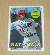 2018 Topps Heritage BLUE autograph rookie Victor Robles
