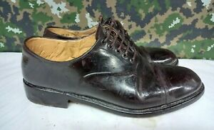 Men's British Army Military Surplus Officer's Tapped Brown Parade Dress Shoes 9