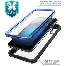 iPhone XR Case Screen Protector Full-Body Rugged Prpotective Clear Cover Blue