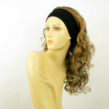 headband wig long blond clear light copper wick and chocolate BUTTERFLY 15613h4