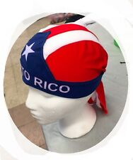 PUERTO RICO FLAG DURAG Du Rag Skull Cap Hat Head Wrap ULTRA STRETCH