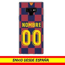 Funda Movil Cases Samsung Camiseta Futbol Compatible con Barcelona Nombre Numero
