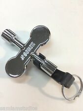 Sonor Rotor Tuning Drum Key w/ Key Ring for Slotted & Square Tension Rods RK